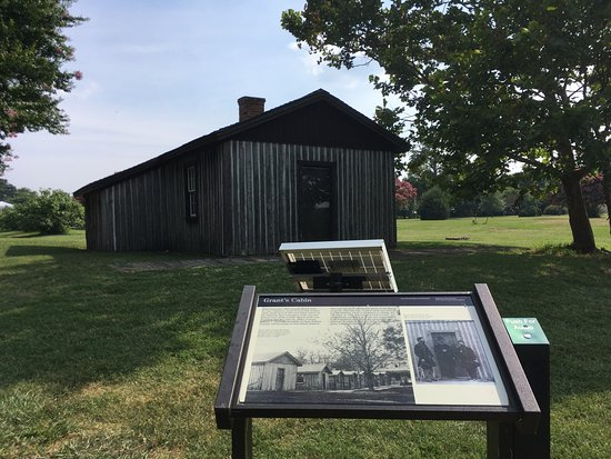 General Grant's modest cabin during the 9-mos campaign that led to Appomattox Court House Surren