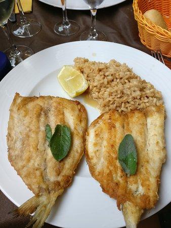 Domaso, Italia: Fisch with Risotto