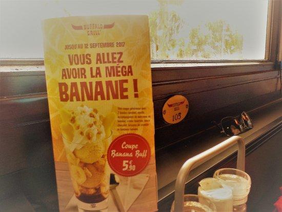 Ollioules, France: Mon dessert, une nouveauté, banane garantie