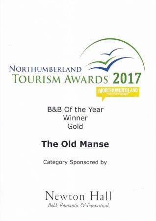 Chatton, UK: Northumberland B&B of the Year award