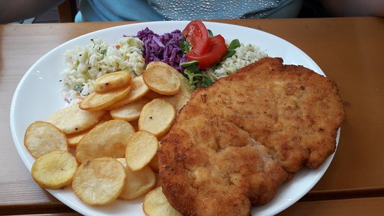 Szklarska Poreba, Polen: Panierowany filet z talarkami