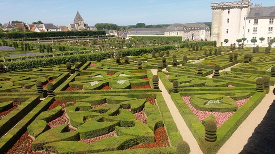 The gardens at Chateau de Villandry
