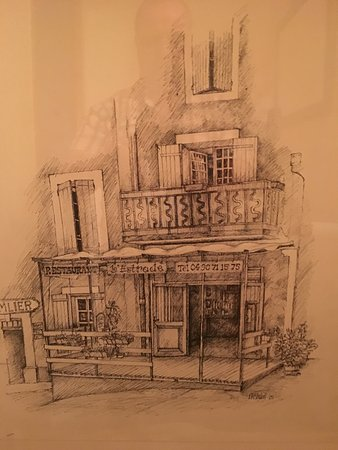 Saint-Saturnin-les-Apt, France: picture of a drawing of the restaurant I found inside
