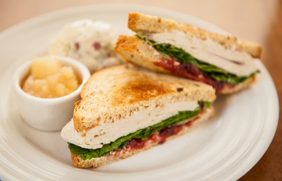 Turkey cream cheese and cherry chutney sandwich picture for Cookery fish creek
