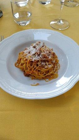 San Damiano d'Asti, Italien: Pasta carbonara.