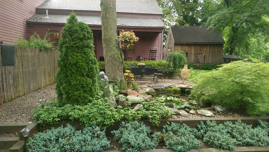 Green Acres Bed And Breakfast: Koi Pond And Patio