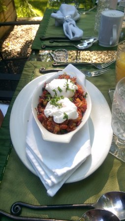 Simsbury, CT: Corned beef hash with poached eggs