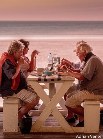 Paternoster, South Africa: DINNER BY THE OCEAN