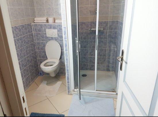 douche dans une chambre ordinaire modele de salle de bain avec baignoire salle de douche petite. Black Bedroom Furniture Sets. Home Design Ideas