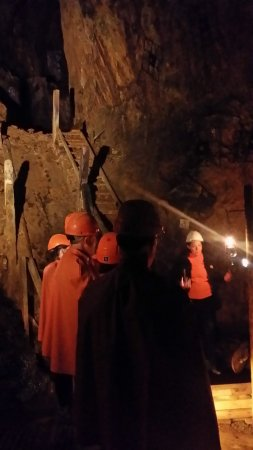 Falun, السويد: On the guided tour in the mine.
