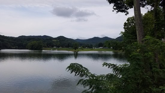 Roanoke, WV: View of the lake  from near pool area .