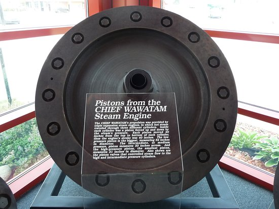 Manitowoc, WI: Pistons from Chief Wawatam steam engine