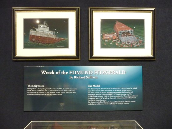 Manitowoc, WI: Dsiplay on wreck of Edmund Fitzgerald