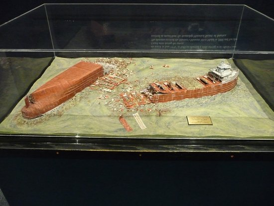 Manitowoc, WI: Model of wreck of Edmund Fitzgerald