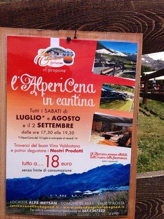 Ayas, İtalya: Bellissimo posto, ben curato  Gentilissimi....! Deliziosa cucina tipica, portate molto abbondati