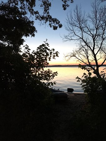 Necedah, WI: Sunrise from the campsite