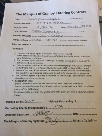 Sompting, UK: Here is the contract I signed. However it does not have all the terms and conditions on does it,
