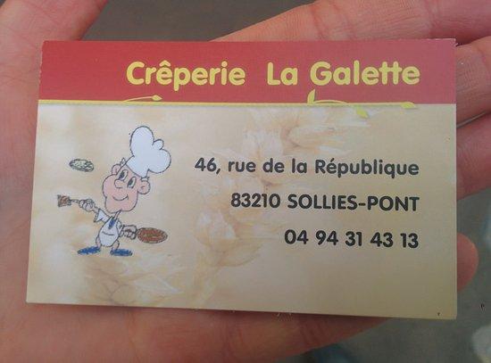 Creperie La Galette Carte De Visite