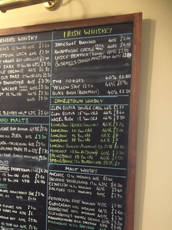 Prince of Wales: A fine selection of whisky to go with the great ales.