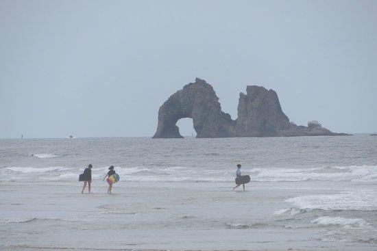 Rockaway Beach, OR: Beach view.