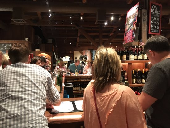 Wine Country Tour Shuttle : V. Sattui Winery tasting area
