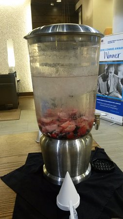 Reading, PA: Refreshing berry water in lobby