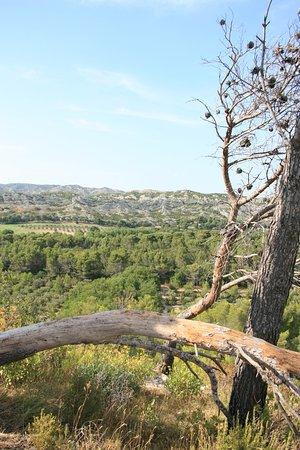Mouries, Francia: la vue des barres rocheuses de Jean-Jean