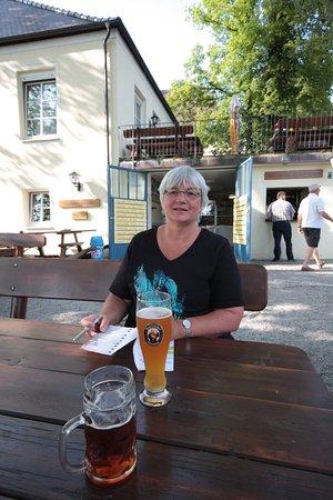 Wemding, Almanya: Biergarten mit Atmosphäre