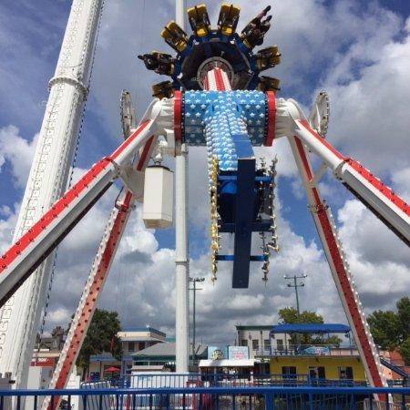 Fun Spot America: This thing hangs you upside down.