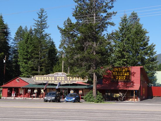 Hungry Horse, MT: Montana Fur Trading Company, opposite
