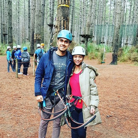 Woodhill, New Zealand: All set for the tree climbs