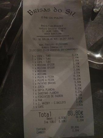 Brisas Dosil: Además de sabroso, una cuenta muy económica (7 personas).