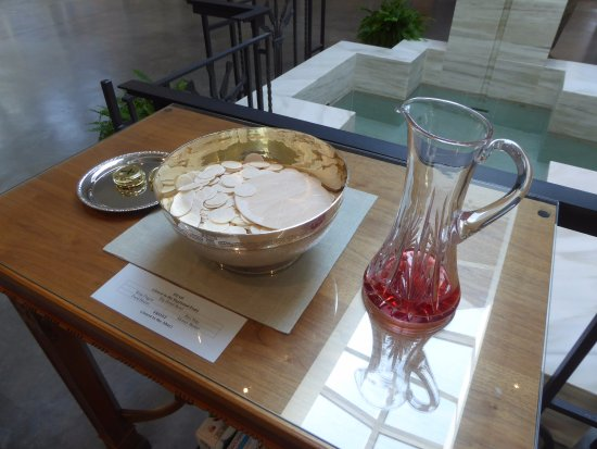 communion bread and wine picture of saint bede catholic church