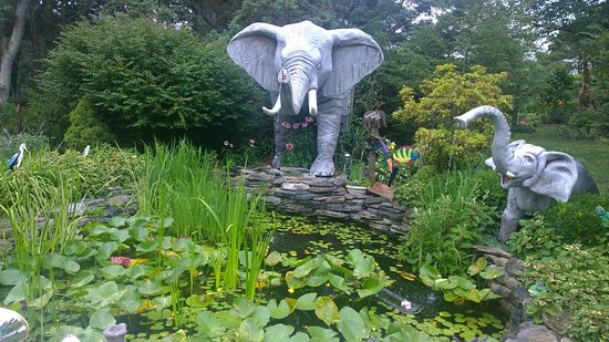 Orrtanna, PA: Elephant pond in outdoor gardens