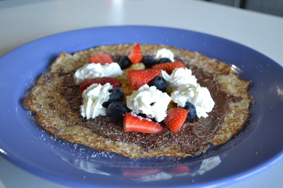 Sweet Crepe Nutella Fresh Fruit And Ream Picture Of
