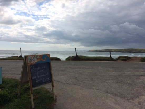 Pembroke, UK : view from the from of Cafe Mor