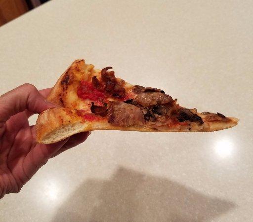 "Davidson, North Carolina: A slice from a 14"" pizza"
