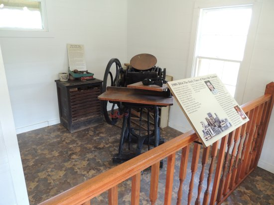 Townsend, TN: printing press