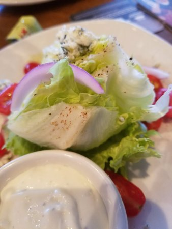 Bedford, NH: Wedge salad with brown spots