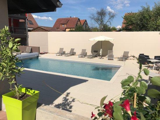 Au soleil hotel et restaurant valff france voir les for Restaurant piscine obernai