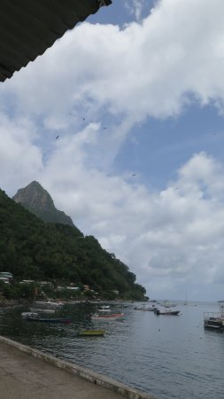 Marigot Bay, St. Lucia: View from Petit Peak Restaurant
