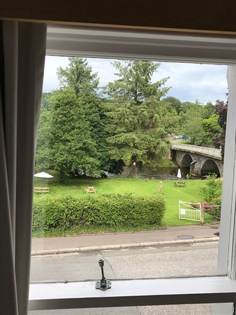 Gatehouse of Fleet, UK: View from the window