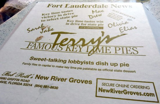 Davie, FL: about the Key Lime Pies