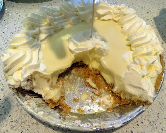 Davie, FL: Didn't take long to cut in to this pie?