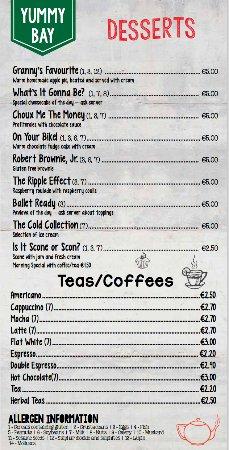 Dungarvan, Irlanda: Street Treats - dessert menu