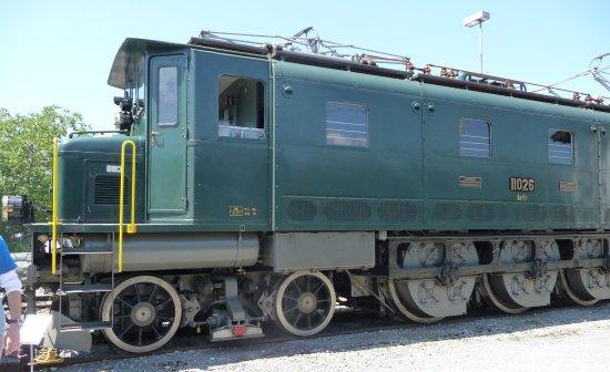 historische Ae 3/5 im Bahnpark Brugg