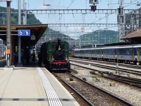 Bahnpark - Besucher - Abholung im Bahnhof Brugg
