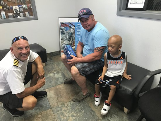 North Las Vegas, NV: Deon, 3. Undergoing a bone marrow transplant. The owners of 702 Helicopters and pilot Tim took h