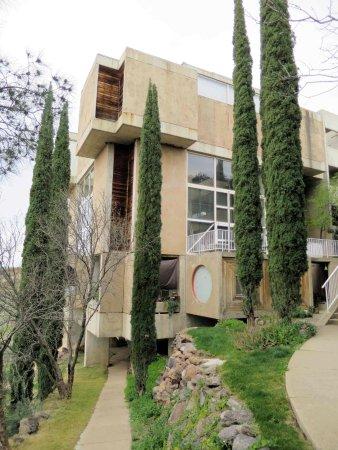 Mayer, AZ: Main buidling, showing steep grade change