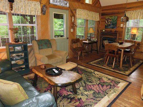 Lake Toxaway, NC: Raccoon Loft Living Room/Dining Room